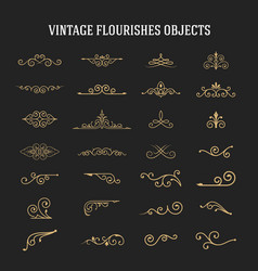 Set of vintage ornamental flourishes vector