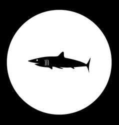 Shark fish simple silhouette black icon eps10 vector
