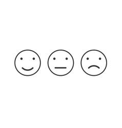 Simple emotion satisfaction line icon vector