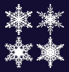 snowflakes holiday decorations vector image