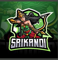 Srikandi esport mascot logo vector