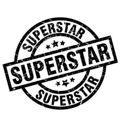 Superstar round grunge black stamp vector