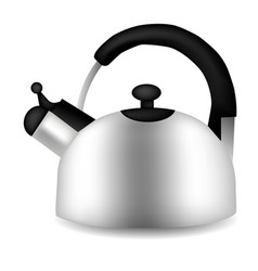 Teapot and kettle set in a realistic style vector
