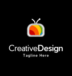 Television media colorful creative business logo vector