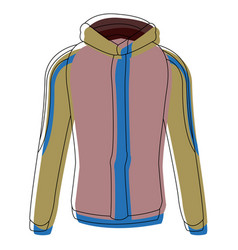 Winter jacket accessory fashion coat sport vector
