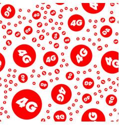 Wireless 4g seamless pattern vector