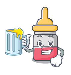 with juice nassal drop mascot cartoon vector image