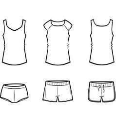 Womens underwear vector