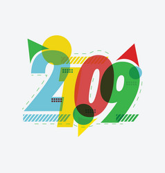 year 2019 text design vector image
