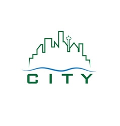 city skyline design template vector image vector image