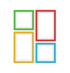 colored photo frame set vector image