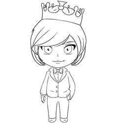 Prince Coloring Page 2 vector image vector image