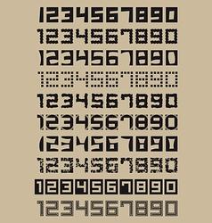 Simple Numerals vector image