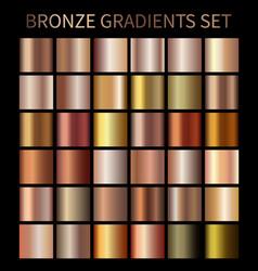 bronze gold gradients vector image