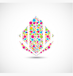 colorful dots symbol for your business icon vector image