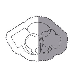 figure types of chat bubbles icon vector image