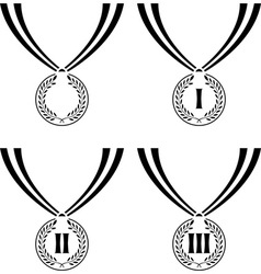 set of stencils of medals vector image vector image