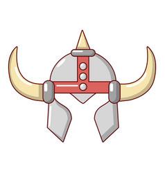 viking helmet knight icon cartoon style vector image vector image