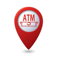Atm red pointer vector
