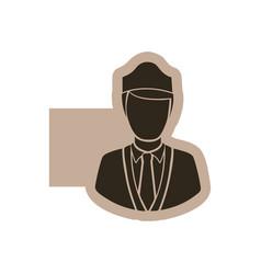 figure emblem guard person icon vector image vector image