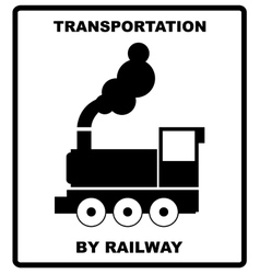 Passenger and cargo transportation by railways vector image