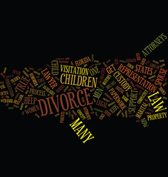 The common myths of divorce text background word vector
