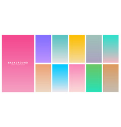 colorful soft gradients set for mobile app vector image