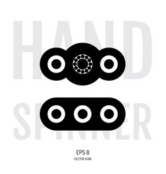 hand spinner or fidget icon vector image
