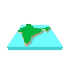 India map icon cartoon style vector image vector image