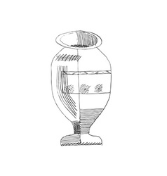 Jug hand-drawn style grunge vector image vector image