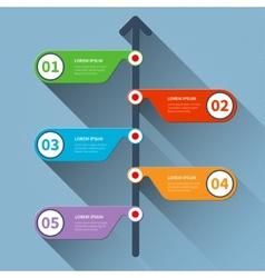 Timeline minimal infographics banner vector image vector image
