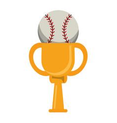 trophy ball baseball winner vector image