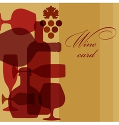 wine bottles and glasses vector image vector image