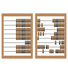 Wooden counting frame vector image vector image