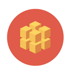 3d cube icon vector