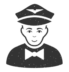 Airline Steward Grainy Texture Icon vector