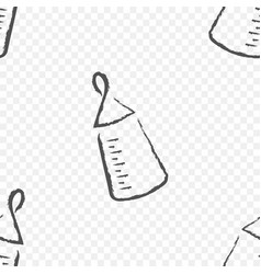 baby bottle on a transparent background vector image