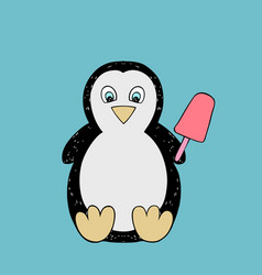 baby penguin cartoon vector image
