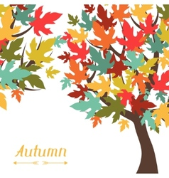 Background stylized autumn trees for greeting vector