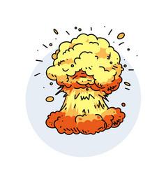 big explosion vector image