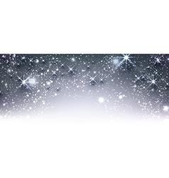 Blue winter festive luminous banner vector image vector image