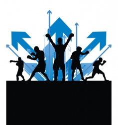 boxing arrows vector image