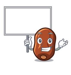 Bring board dates fruit character cartoon vector