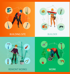builders design concept vector image