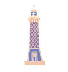 Cairo tower sketch drawing icon vector