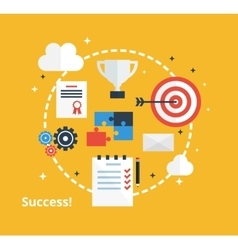 Concept of business achievement Inspiration vector image