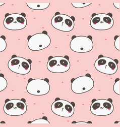 cute panda pattern background vector image