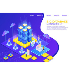 database isometric concept server business vector image