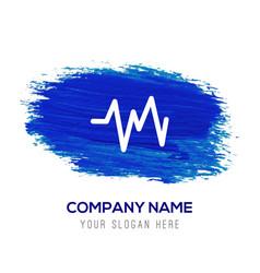 ecg icon - blue watercolor background vector image