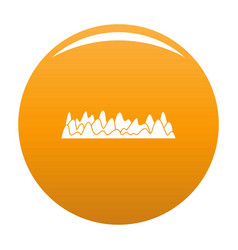 Equalizer sound vibration icon orange vector